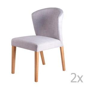 Zestaw 2 jasnoszarych krzeseł sømcasa Alina