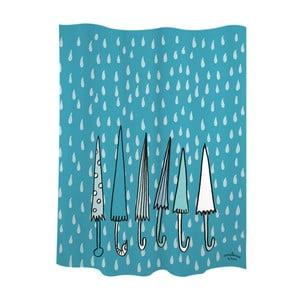 Zasłona prysznicowa Umbrellas Blue