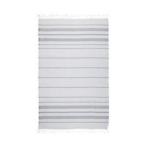 Szary ręcznik hammam Kate Louise Classic, 180x100 cm