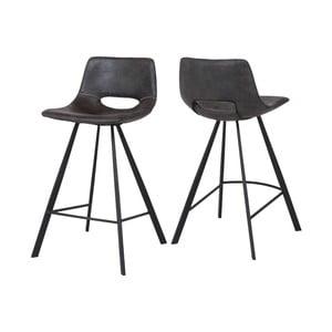 Brązowe krzesło barowe Canett Coronas, wysokość87cm