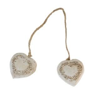 Dekoracyjne serca wiszące Antic Line Double Heart