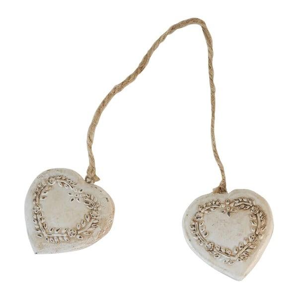 Dekoracja Antic Line Double Heart