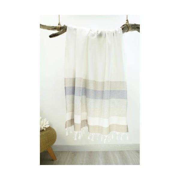 Ręcznik hammam Bath Style Cream, 90x180 cm
