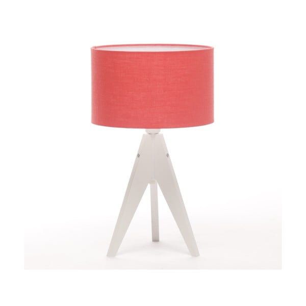 Lampa stołowa Artist Cylinder Coral Red/White