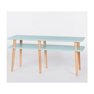 Jasnoturkusowy stolik Ragaba Mugo, dł. 119 cm