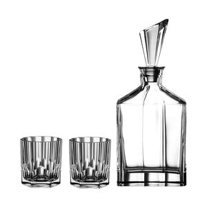 Komplet karafki i 2 szklanek do whisky ze szkła kryształowego Nachtmann Aspen