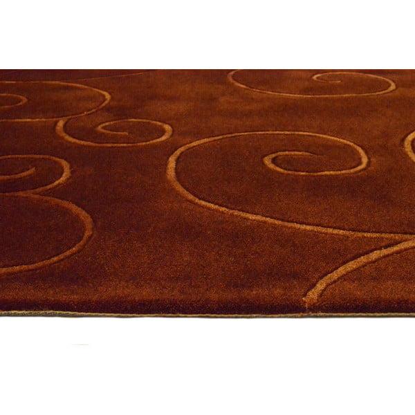 Dywan ręcznie tkany Tufting, 120x180 cm, czekoladowy