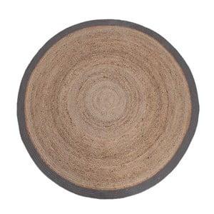 Dywan z juty z szarą obwódką LABEL51 Rug, Ø 180 cm
