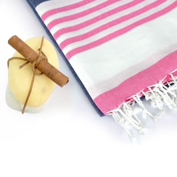 Zestaw 2 ręczników hammam HF Living Mist