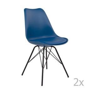Zestaw 2 niebieskich krzeseł House Nordic Oslo