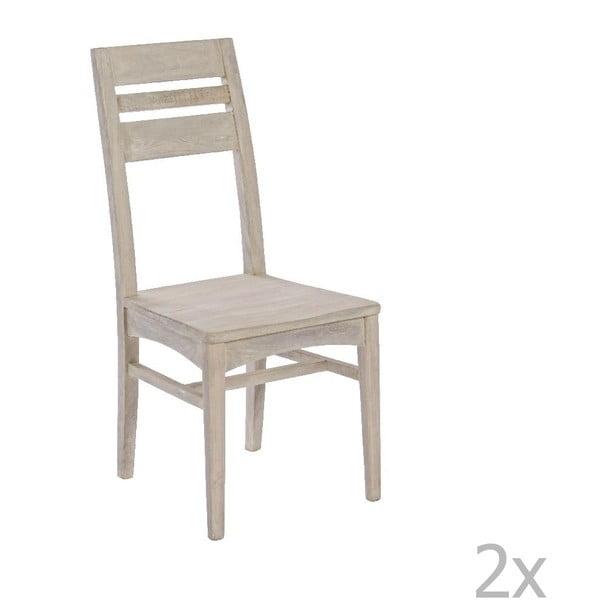Zestaw 2 krzeseł do jadalni Bizzotto Country Natural