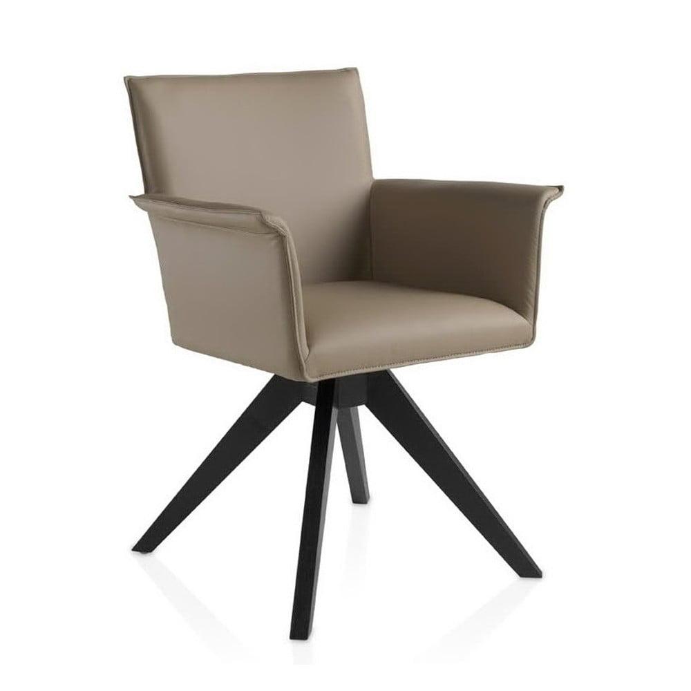 Beżowe krzesło obrotowe Ángel Cerdá Patty