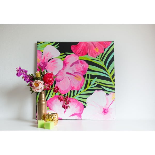 Obraz Tropical Flowers, 70x70 cm