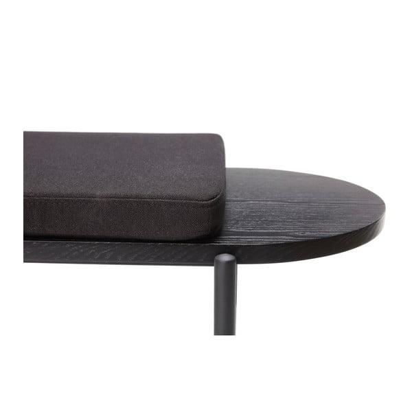 Czarna ławka z siedziskiem Hübsch Razzo