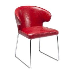 Czerwone krzesło do jadalni Kare Design Atomic