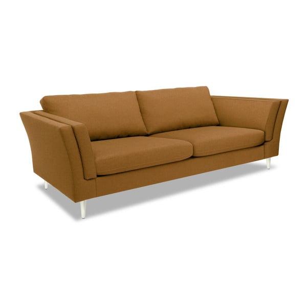 Brązowa sofa 3-osobowa Vivonita Connor