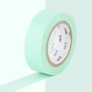 Jasnozielona taśma dekoracyjna washi MT Masking Tape Uni