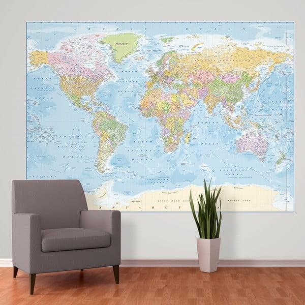 Tapeta   wielkoformatowa Blue Map, 158x232 cm