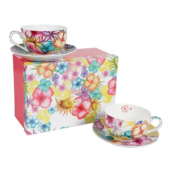 Zestaw 2 porcelanowych kubków Blooming Teacup