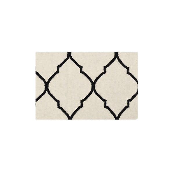 Dywan wełniany Bakero Caroline Ivory/Black, 120x180 cm