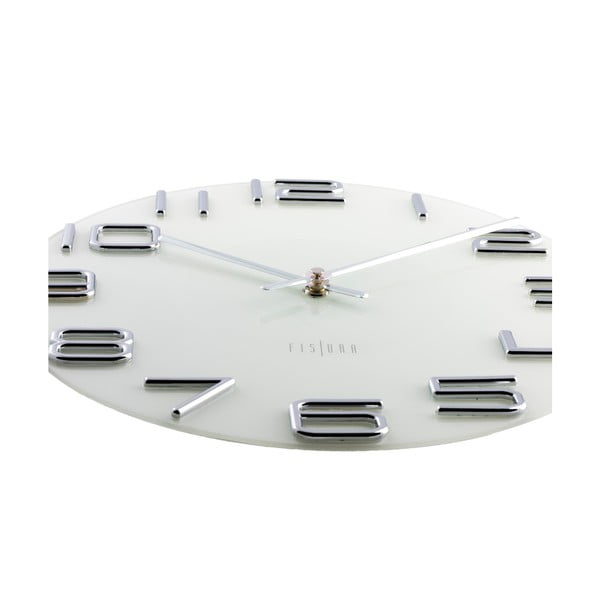 Zegar Numbers Silver, 30 cm