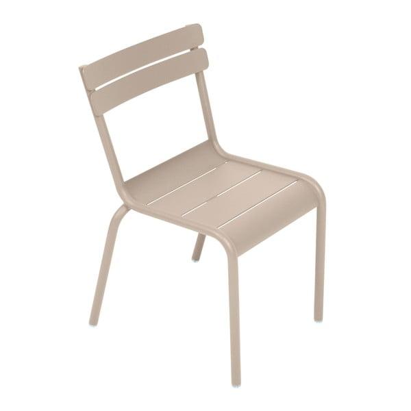 Jasnobeżowe krzesło dziecięce Fermob Luxembourg