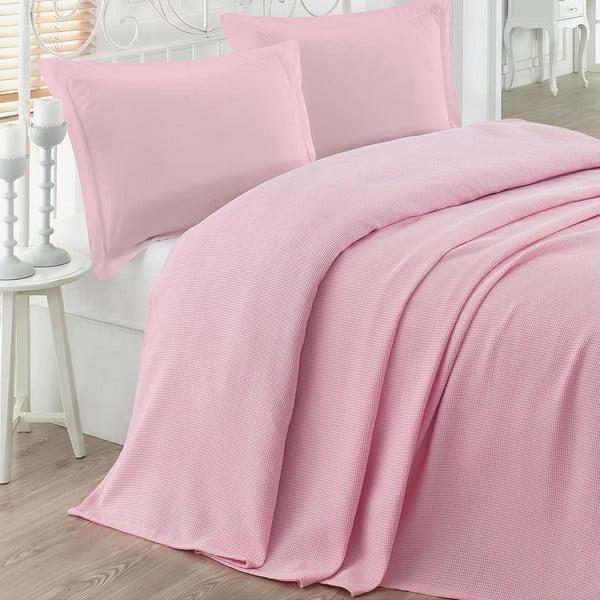 Narzuta na łóżko Petek Pink, 200x230 cm