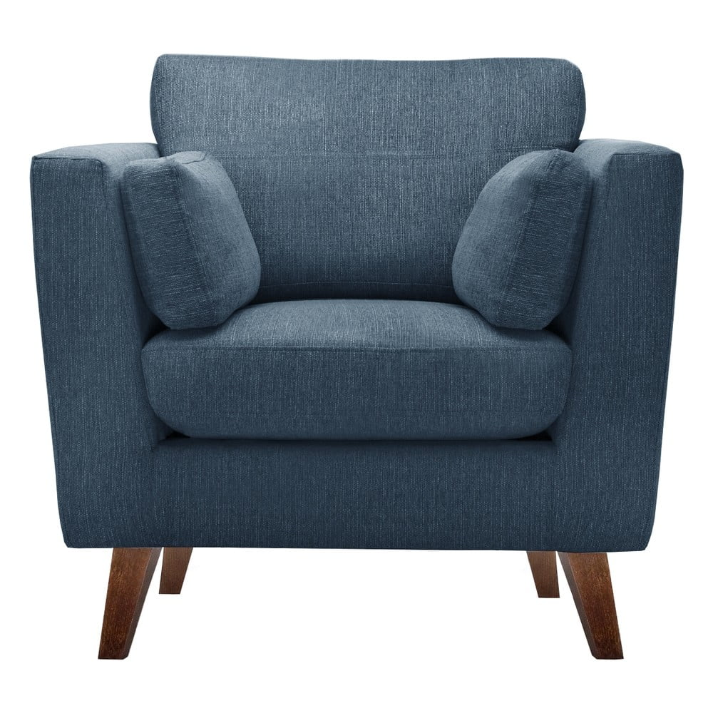 Niebieski fotel Jalouse Maison Elisa