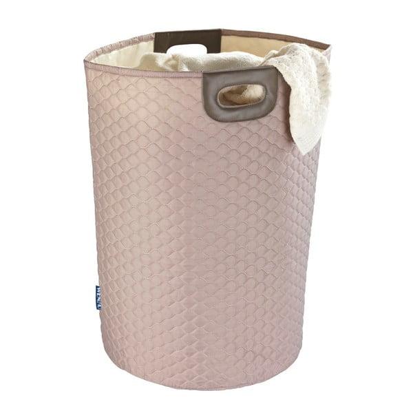 Różowy kosz na pranie Wenko Wabo, 75 l