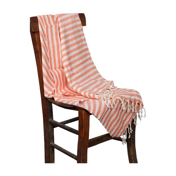 Ręcznik hammam Akasya Orange, 90x190 cm