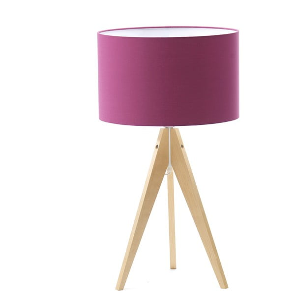 Lampa stołowa Artist Lilac/Birch, 40x33 cm
