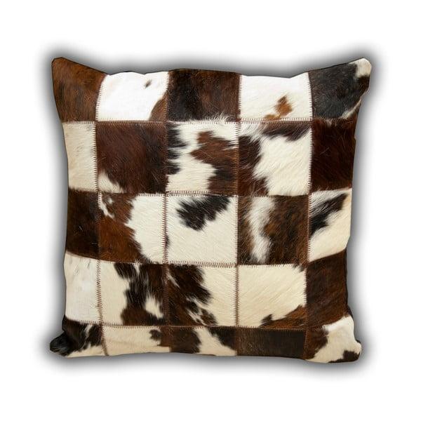 Poduszka skórzana Normand Cow, 45x45 cm