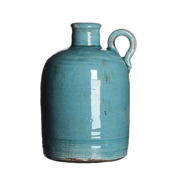 Wazon ceramiczny Sil Turquoise, 20x13 cm