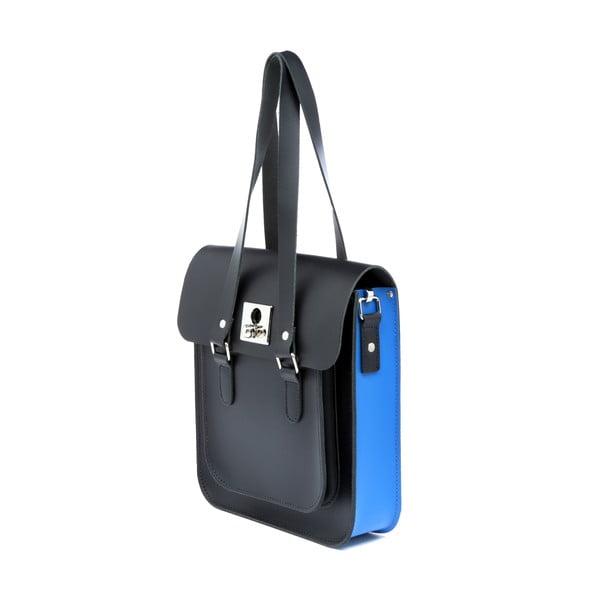 Skórzana torebka Rosemont Black/Royal Blue