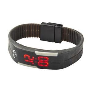 Czarny zegarek LED TINC Glow