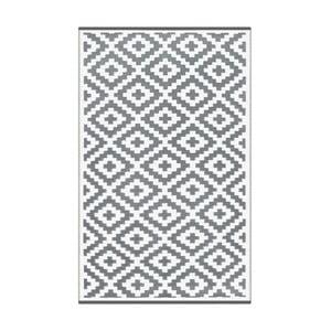 Szaro-biały dwustronny dywan zewnętrzny Green Decore Nirvana, 120x180 cm