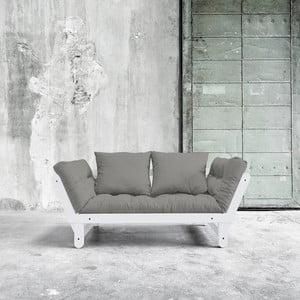 Sofa rozkładana Beat White/Granite Grey
