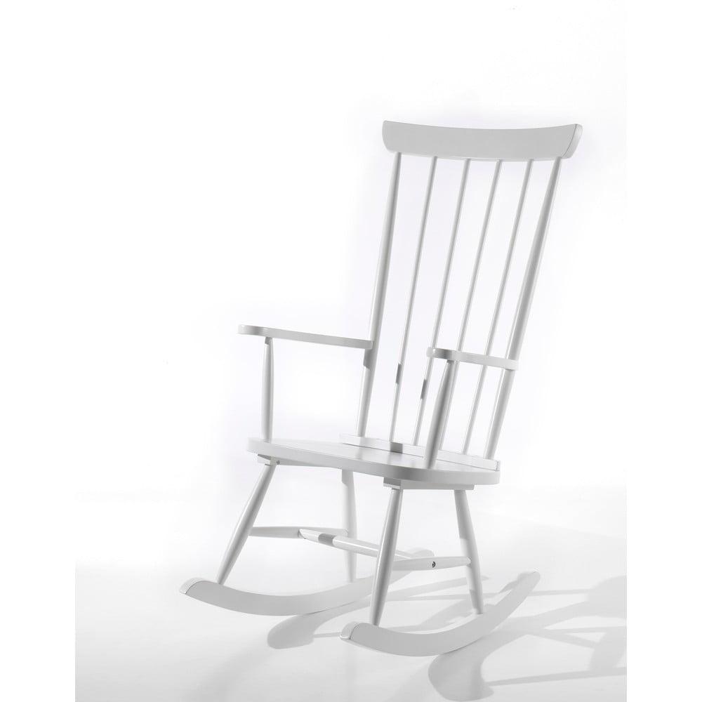 Biały fotel bujany Vipack Rocky