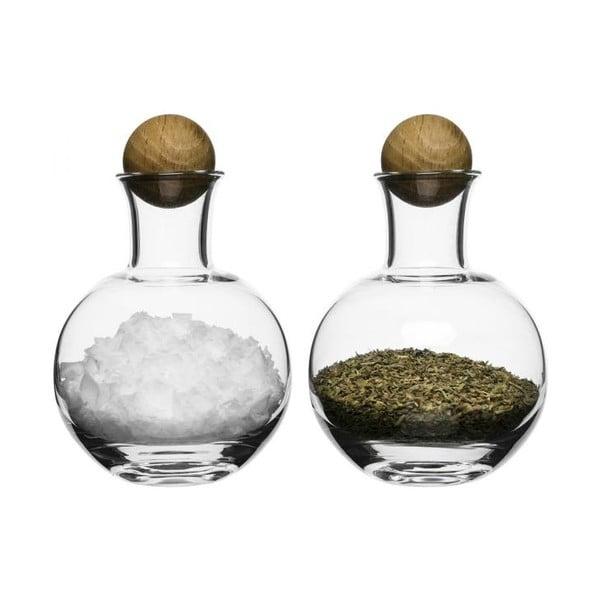 Solniczka i pieprzniczka Sagaform Oval Oak, 200 ml