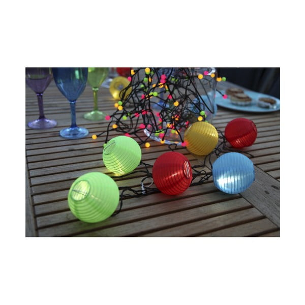 Kolorowy świecący łańcuch Beads