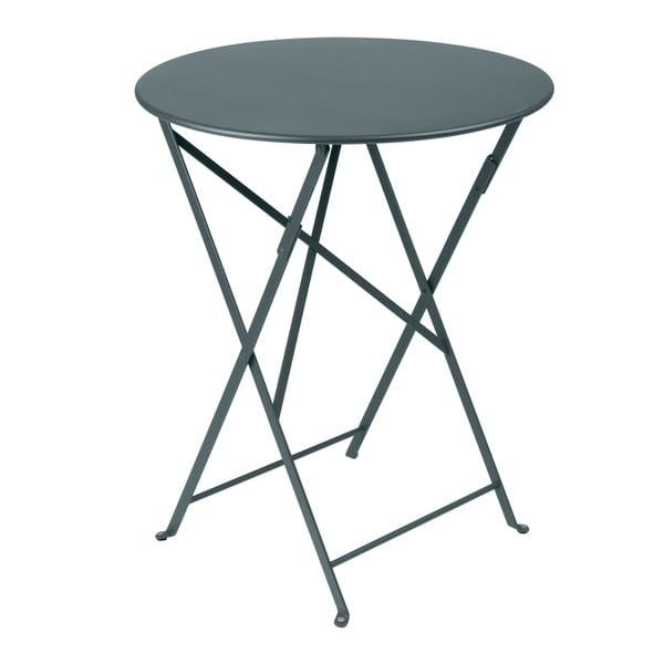 Ciemnoszary składany stół metalowy Fermob Bistro