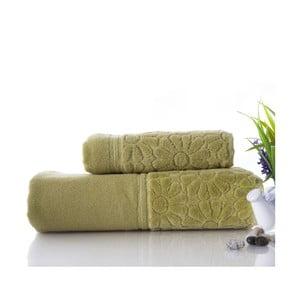 Zestaw 2 ręczników Samba Green, 50x90 cm i 70x140 cm