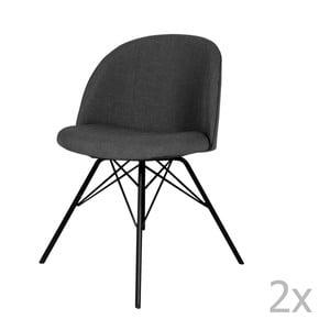 Zestaw 2 antracytowych krzeseł Tenzo Sofia Porgy