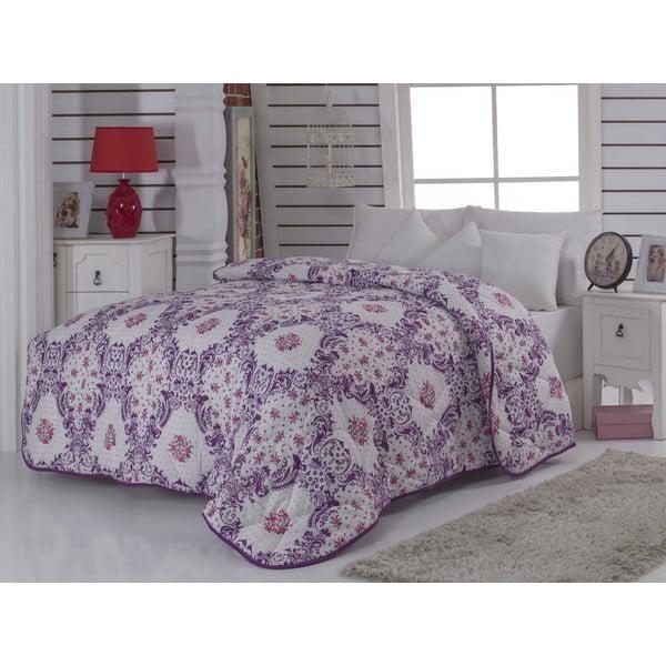 Narzuta pikowana na łóżko dwuosobowe Newfashion Maroon, 195x215 cm