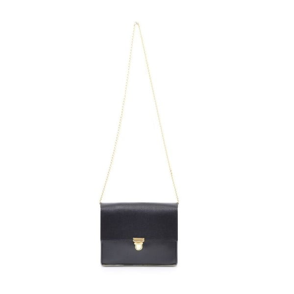 Skórzana torebka Jennifer, czarna