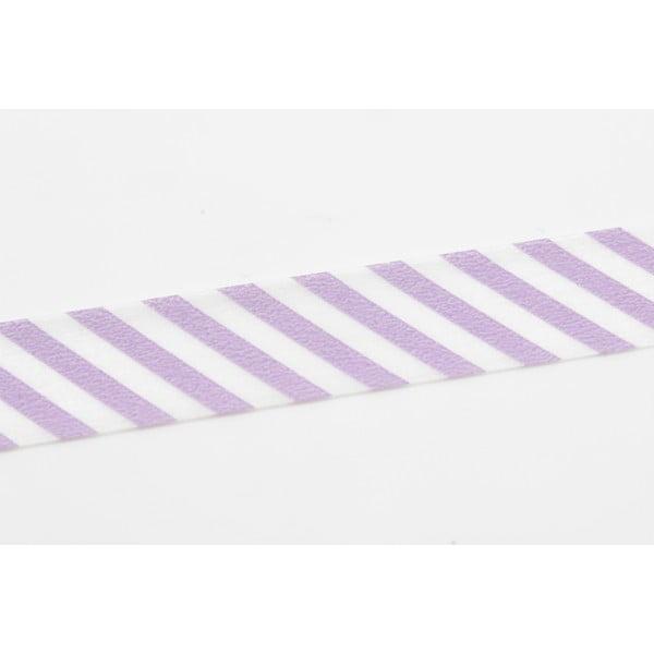 Taśma dekoracyjna washi Stripe Lilac