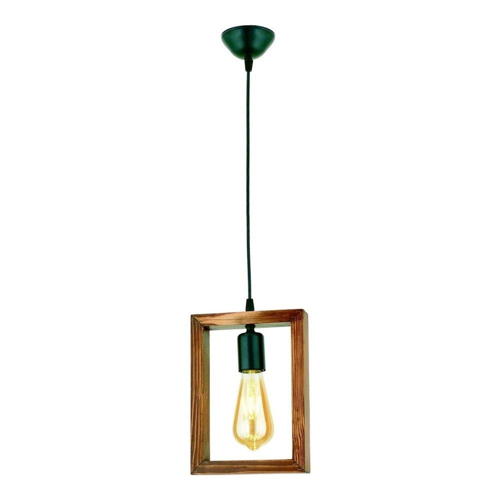 Lampa wisząca z drewna grabu Geometrik Square