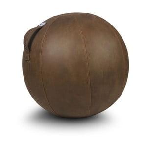 Piłka do siedzenia VLUV 75 cm, brązowa, skórzany efekt