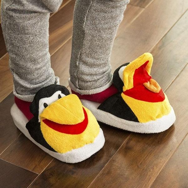 Kapcie dziecięce InnovaGoods Fluffy Slippers Penguin, rozm. L