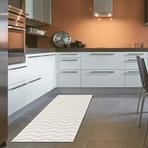 Wytrzymały chodnik kuchenny Webtapetti Optical Beige, 60x220 cm